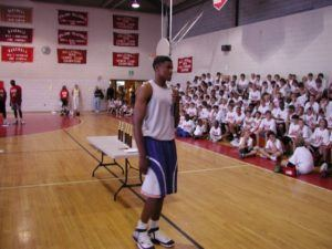 Rudy Gay Speaking at Camp
